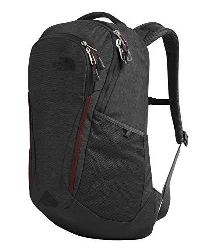 The North Face Women's Vault Backpack, Asphalt Grey Light Heather/Deep Garnet Red, One Size