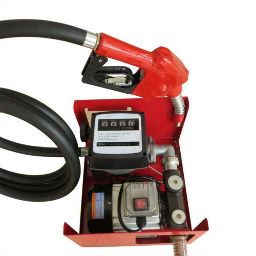 60L / min 550W Bomba de Transferencia Autocebante de Combustible Eléctrica Bomba de Transferencia Diesel Portátil Biocombustible Diesel