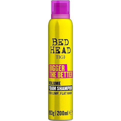 BED HEAD by TIGI - Bigger The Better, Champú de espuma voluminizador para cabello fino, 200 ml