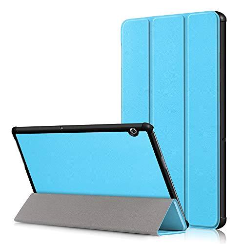 KATUMO Huawei Mediapad T5 10 Cover Ultra Slim Custodia in Pelle PU per Huawei Mediapad T5 10 Polici Tablet(2018 Modello) Copertura Protettiva con Supporto, Cielo Blu