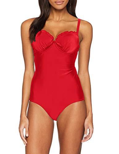 Pour Moi? Damen Splash Padded Underwired Suit Einteiler, Rot (Red Red), 85G (Herstellergröße: 38F)
