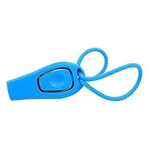 Sifflet de chien Clicker 2in1Handheld Dogclicker d'entraînement en silicone Bracelet Puppy Teach commandes, Obéissance rappel et arrêter Contraignant les aboiements en toute sécurité