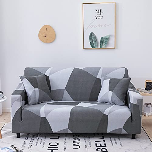 WXQY Funda de sofá elástica Estampada Funda de sofá con patrón geométrico Funda de sofá de Esquina Funda de Chaise Longue Funda de sofá Antideslizante A20 1 Plaza