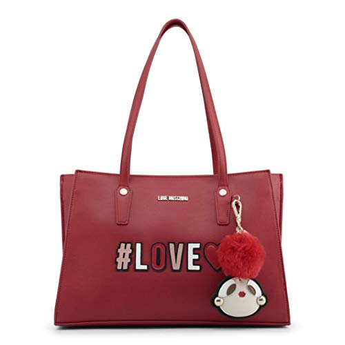 Love Moschino Girly Pom Pom Sac à main rouge
