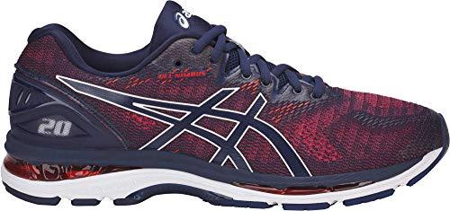 ASICS Men's Gel-Nimbus 20 Running Shoe, Indigo Blue/Indigo Blue/Fiery Red, 12 Medium US