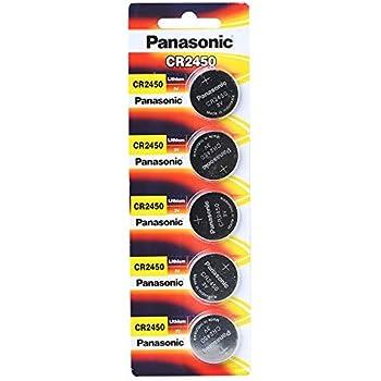 5x Pilas de Botón CR2450 Baterías 3V 620mAh PANASONIC: Amazon.es ...