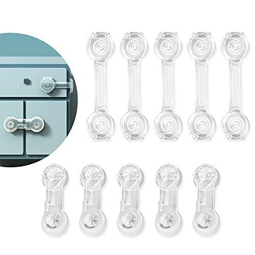 Cerraduras De Armario Para NiñOs, Cerraduras De Seguridad Para NiñOs Incluye 5 Cerraduras & 5 Cerraduras Largas, Cerraduras De Seguridad Para BebéS DifíCiles De Abrir Para NiñOs