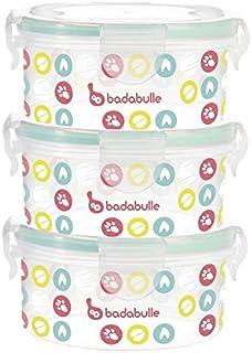 comprar comparacion Badabulle B004000, Set Contenedores, 300 ml, 3 Unidades