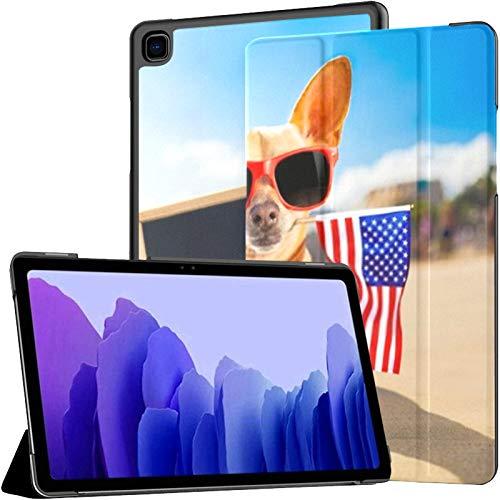 Funda para Samsung Galaxy Tab A7 Tableta de 10,4 Pulgadas 2020 (sm-t500 / t505 / t507), Chihuahua Dog Ocean Shore Beach con Soporte de Varios ángulos con activación/suspensión automática