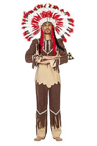 TH-MP Indianer Kostüm Indianerhäuptling Krieger Faschingskostüm Herrenkostüm (58)