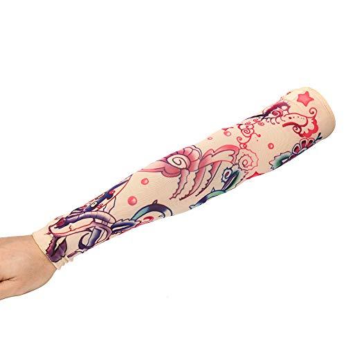 Tattoo Ärmel, Tatoo Armstrümpfe Arm Tattoo Strumpf ,Unisex Nylon Tattoo Armstrumpf , für Karneval Fasching Party
