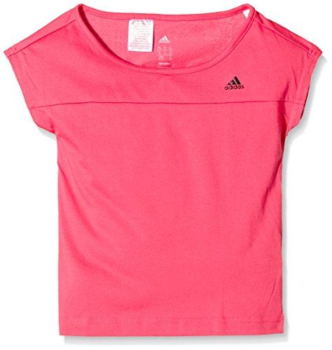 adidas YG W ST tee - Camiseta para Mujer, Color Rosa Negro, Talla 164