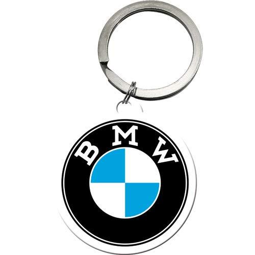 Nostalgic-Art 48033 - Portachiavi rotondo con logo BMW, 4 cm