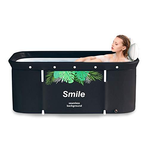 Renoble Faltbare Badewanne Erwachsene bewegliche Badewannen, tragbare Badewanne mit Badewannenabdeckung, erhältlich in Allen Jahreszeiten Beauty Spa Badewanne zu lagern
