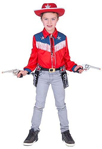 Funny Fashion Wild West Cowboy hemd met franjes - geweldig kostuumhemd met jeans versiering voor jongens voor kinderverjaardag theater carnaval themafeest