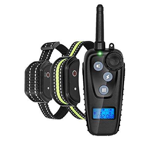 N&F Waterproof Rechargeable Electric Shock Collar Dog Training Collars Remote Control Pet bite Trainer No Bark Stop Device aids For2dogs