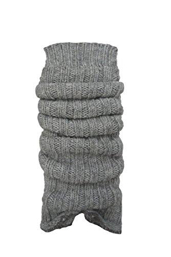 1 Paar Grobstrick-Stulpe mit Alpakawolle Legwarmers für Teenager und DamenCH-354 (silber)