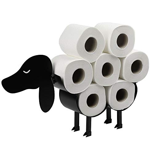 Toilet Roll Holder   Free Standing Toilet Paper Stand   Metal Toilet Accessory   Fun Bathroom Accessories   Pukkr (Dog)