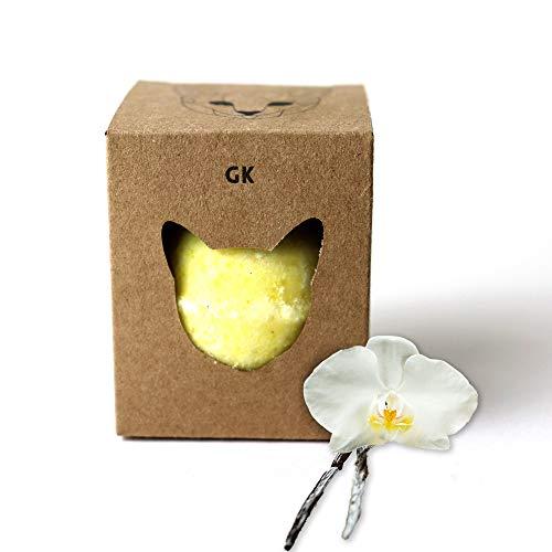 CBD Badekugeln mit Beruhigender Wirkung mit 100mg CBD auf Kokosöl Basis - verwendbar als Badebomben Geschenk Set & badekugeln Geschenk Set für Frauen - CBD Badekugeln (Vanille)
