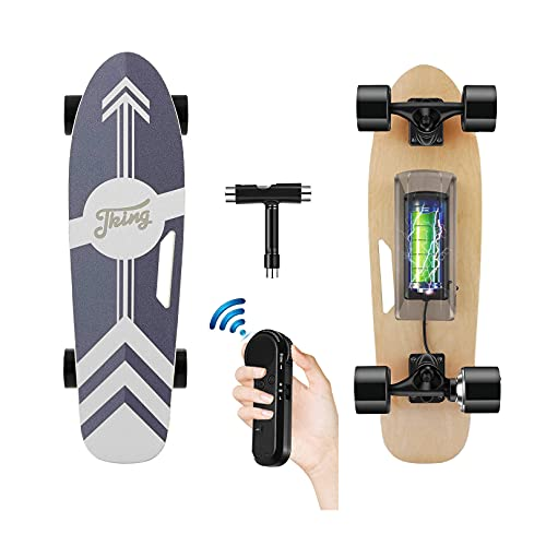 """Tooluck 28"""" Electric Skateboard with Remote, 350W Motor Electric Longboard, 12MPH Top Speed, 8..."""