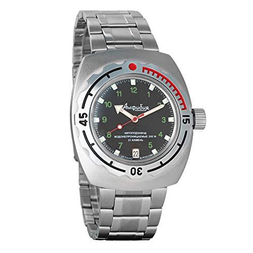 Vostok Anfibian Militar Ruso Diver Reloj de pulsera para hombre Anfibia, #090269