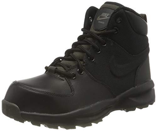 Nike Manoa (GS), Stivali da Escursionismo Alti Uomo, Multicolore (Black/Black/Newsprint 002), 38.5 EU