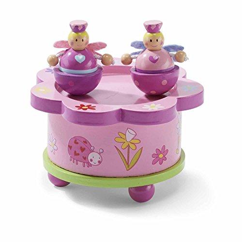 Lucy Locket – Caja de música rosa de cuento de hadas – Caja de madera de música con figuras móviles magnéticas – Cajas de música infantiles
