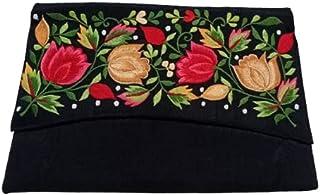 "Kusum (A Jharkhand Govt Enterprise) Women's Silk Hand-Embroidered Clutches- (10"", 5.5"", 5"")"