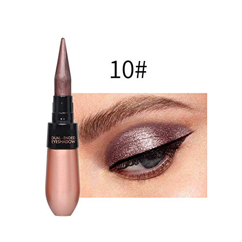 Sombra de Ojos Bolígrafo Belleza Resistente Al Agua Delineador de Ojos Crema Doble-Punta Duradero Portátil para Mujer - 10