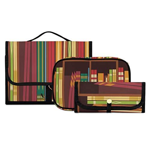 Bolsa de Viaje para artículos de tocador Libro y Lupa sobre la...