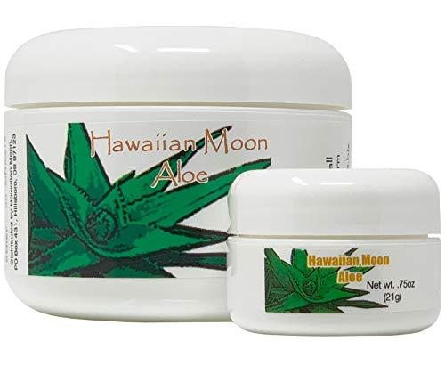 Hawaiian Moon Aloe Cream - 9 Oz Skin Care Jar And.75 Oz Travel Size Jar
