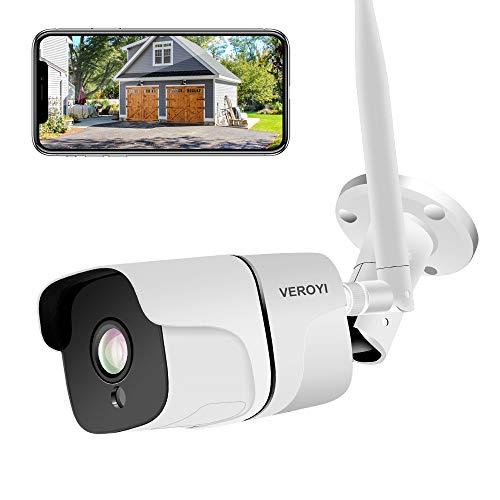 Überwachungskamera Aussen, Veroyi 1080P Wasserdicht WLAN IP Überwachungskamera Innen Außen, Heimsicherheits Kamera System mit IR-Nachtsicht-Bewegungserkennung 2-Wege-Audio-Fernmonitor