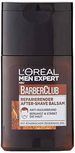 L\'Oréal Men Expert Barber Club reparierender After-Shave Balsam, Beruhigt und belebt nach Rasur Beugt Rötungen, Hautirritationen und Pickeln vor (1 x 125 ml)