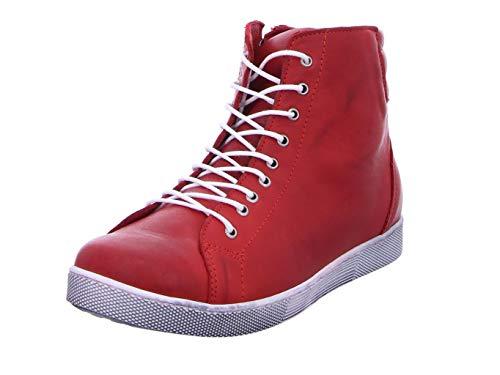 Andrea Conti Damen 0347843 Hohe Sneaker, Rot (Chili 583), 42 EU