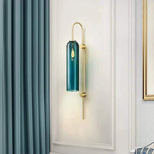 Applique Applique Aisle Couloir Salle Salon Escalier Chambre Chambre Balcon Étude Or Bleu Lumière Moderne Simple Europe du Nord