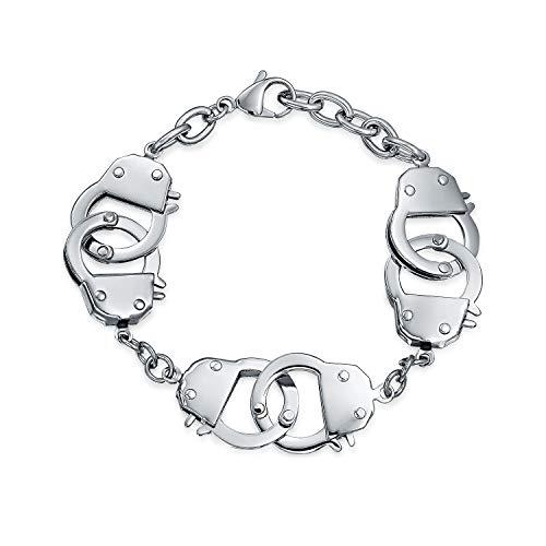 Bling Jewelry Multi Handschellen BFF Partner In Crime Edelstahl Kinnkette Kettenglied Armband Für Damen Für Herren