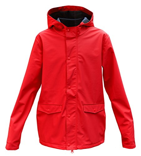 modAS Kinder Regenjacke, Farbe:rot, Größe:110/116