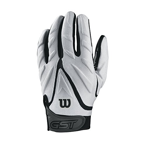 Wilson GST Big Skill American Football leicht gepolsterte Receiver Handschuhe - weiß Gr. M