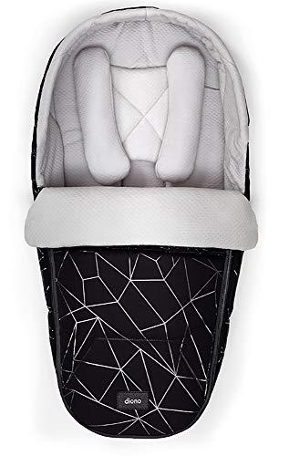 Diono Nacelle souple Pod Newborn accessoires pour poussette, Black Platinum