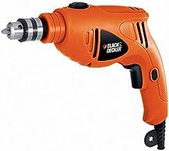 Black+Decker 480W 10mm Single Speed Hammer Drill for Wood, Steel & Masonry Drilling, Orange/Black - HD4810-B5, 2 Years War...