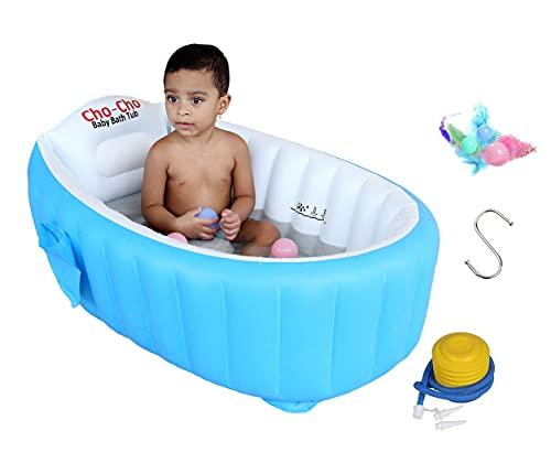 Cho-Cho Inflatable Bath Tubs® European Standard Inflatable Baby Bath Tub with Pump