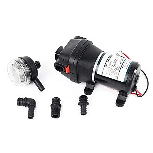 Fetcoi Bomba de presión automática de 12 V, 10 l/min, bomba de agua, bomba de membrana, para caravana, barco, yate, caravana, camping, exterior, jardín