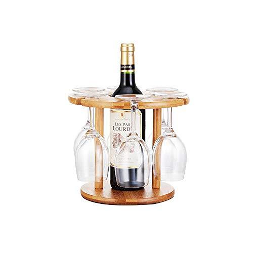 YQQ Porte Verre À Vin Bambou Rack De Vidange À l'envers Casier À Vin Salon Présentoir Porte Verre À Vin (Taille : 25 * 25cm)