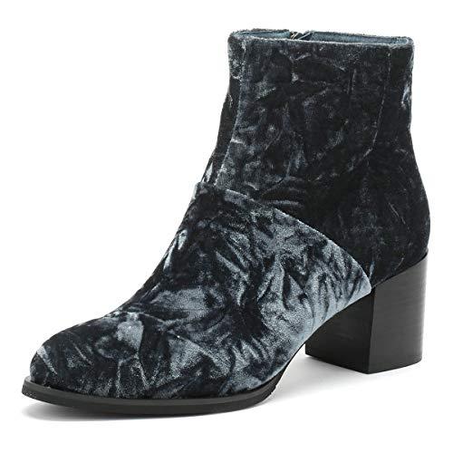 Shoe the Bear Ceci Femmes Dark Gris Velvet Bottes-UK 7