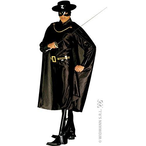 Kostüm M Maskierter schwarz Bandit Antonio Bandito Räuber Mexikaner Held