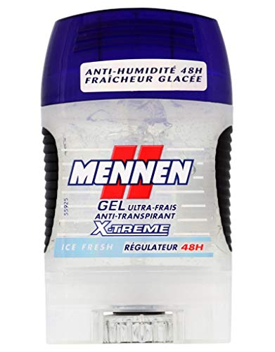 Mennen Homme Stick Gel Ultra-Frais Anti-Transpirant X-Treme Ice Fresh Régulateur 48H Format 75ml (lot de 3)