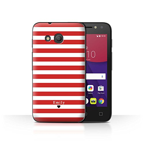 Stuff4Phone Case/Cover/Skin/alcpix44/Custom Stripes/Striped Collection Coeur Rayé Rouge