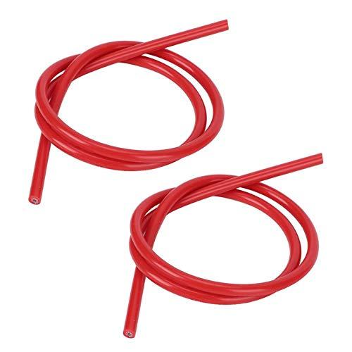 2 piezas de alambre de encendido de silicona con núcleo de carburo para coche(red)