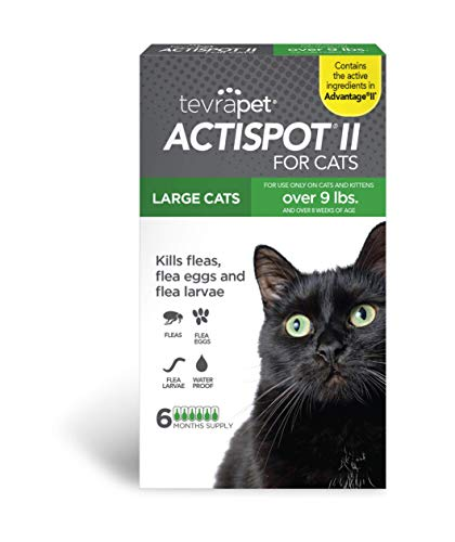 TevraPet Actispot II Flea Prevention for Cats - 9+ lbs, 6 doses