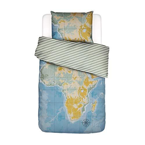 Covers & Co Bettwäsche Africa Landkarte Baumwolle Renforce Multi, 135x200 + 1 X 80x80 cm